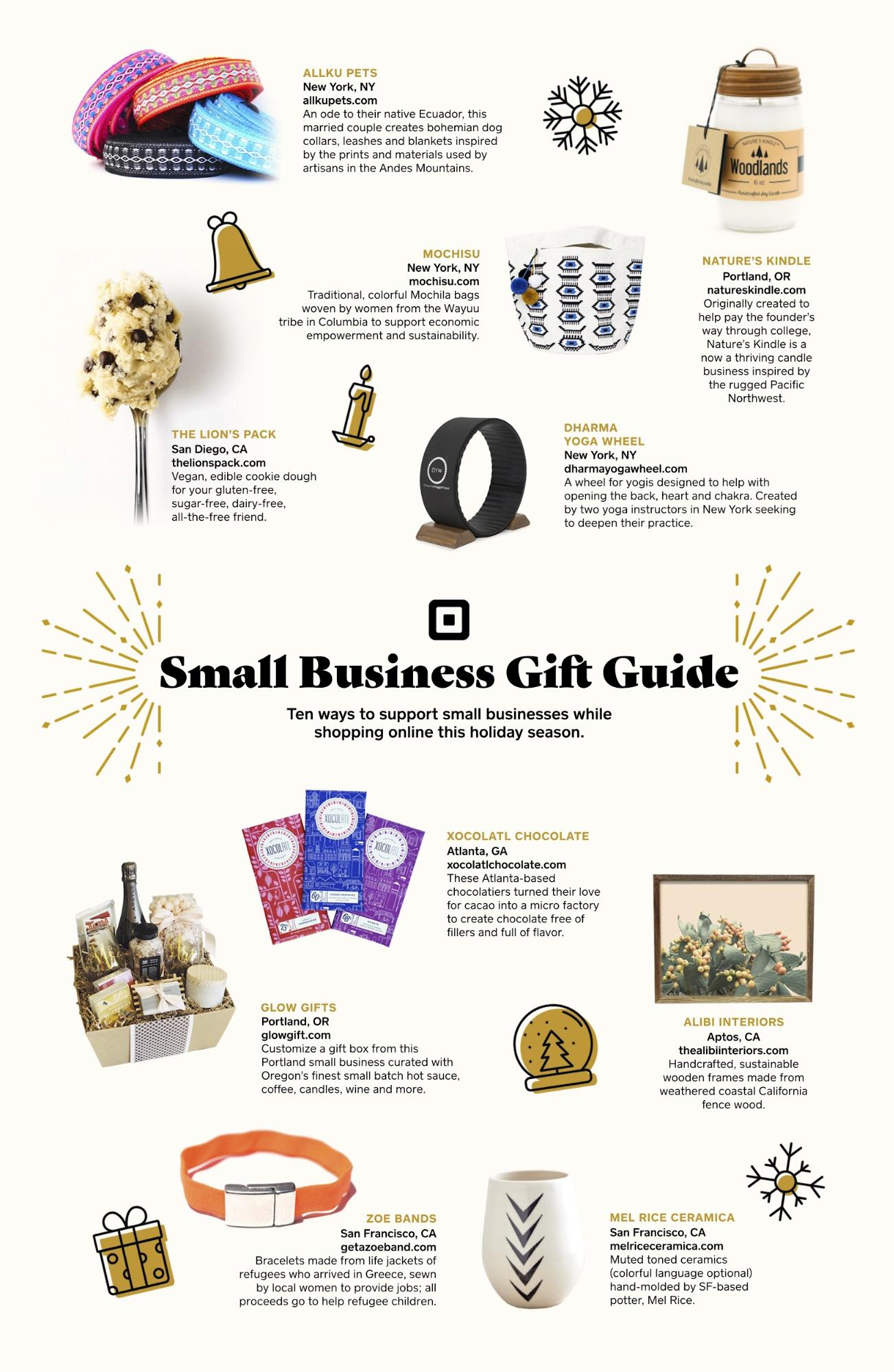 square small business gift guide 2018