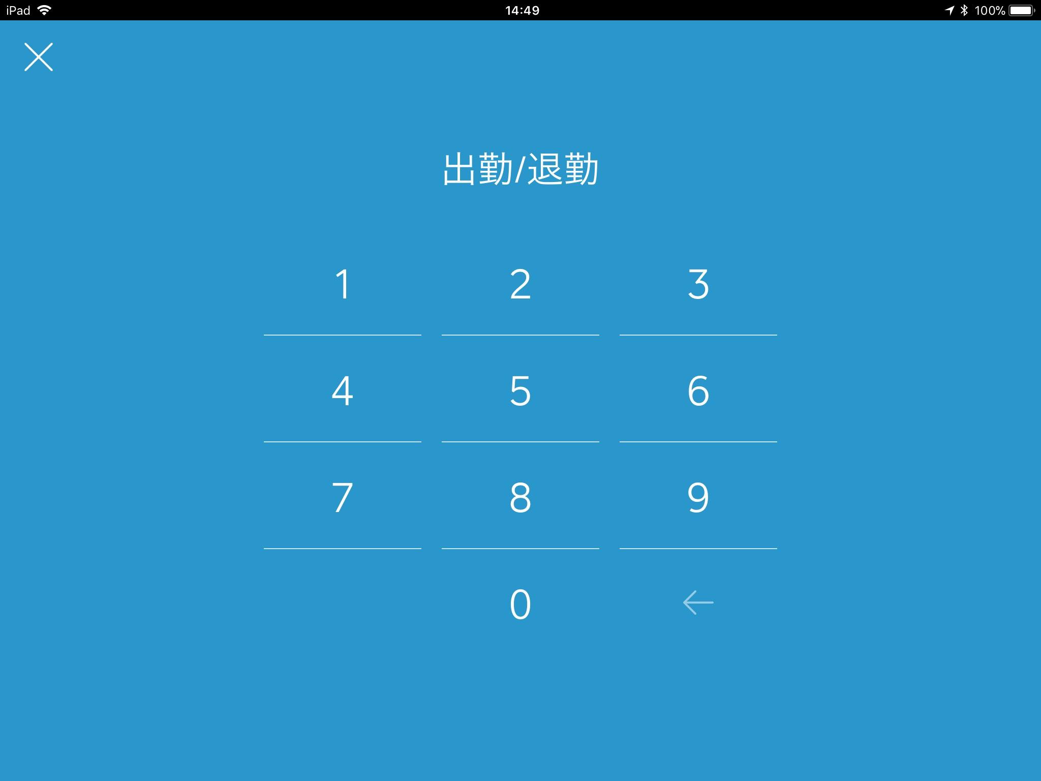 JP iPad_Enter Employee's Passcode