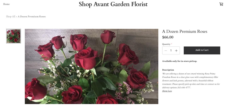 Florist ecomm store
