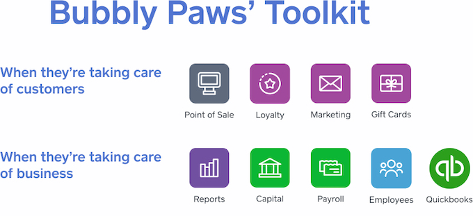 Bubbly Paws Square Toolkit