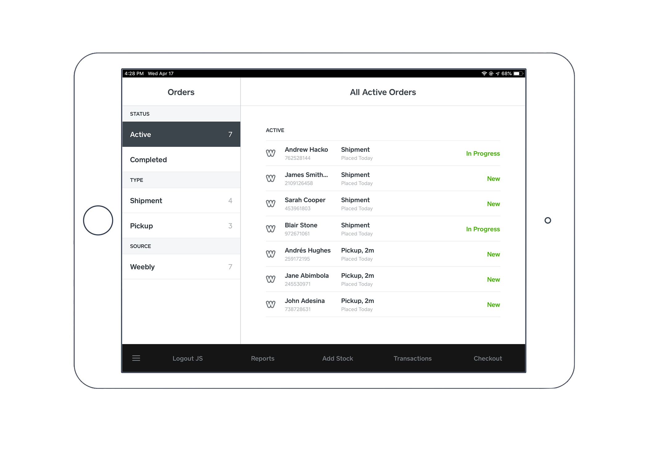 Manage Orders from the Retail App