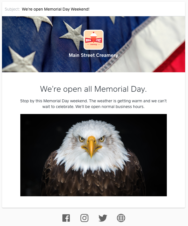 memorial day email