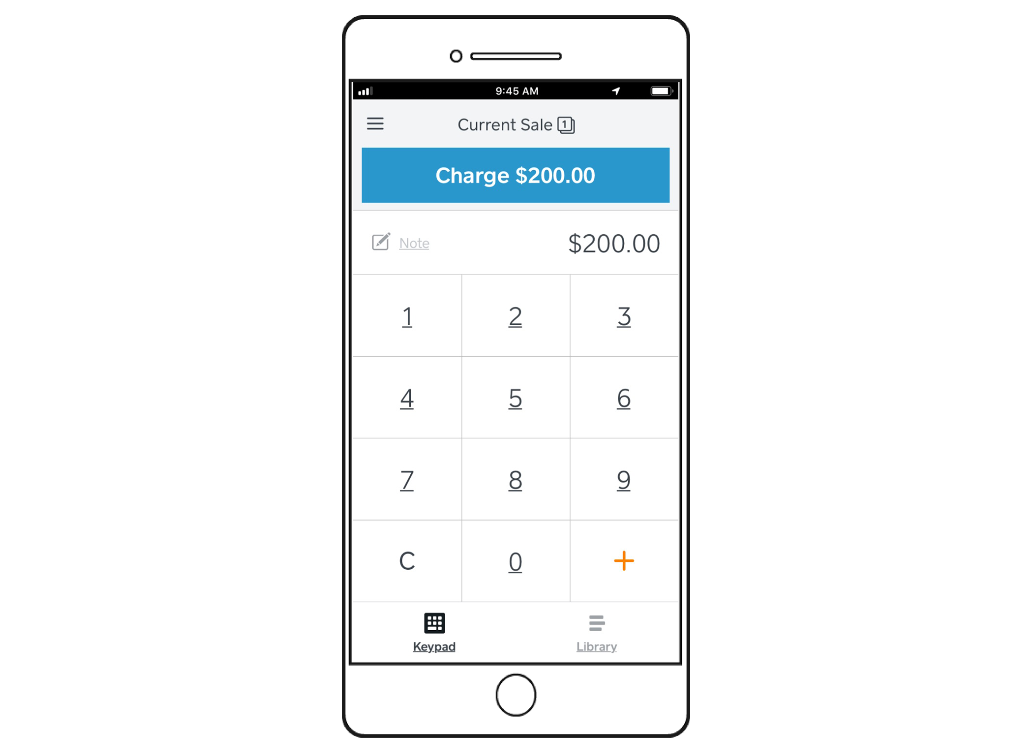 Iphone - Square App - Custom Amount