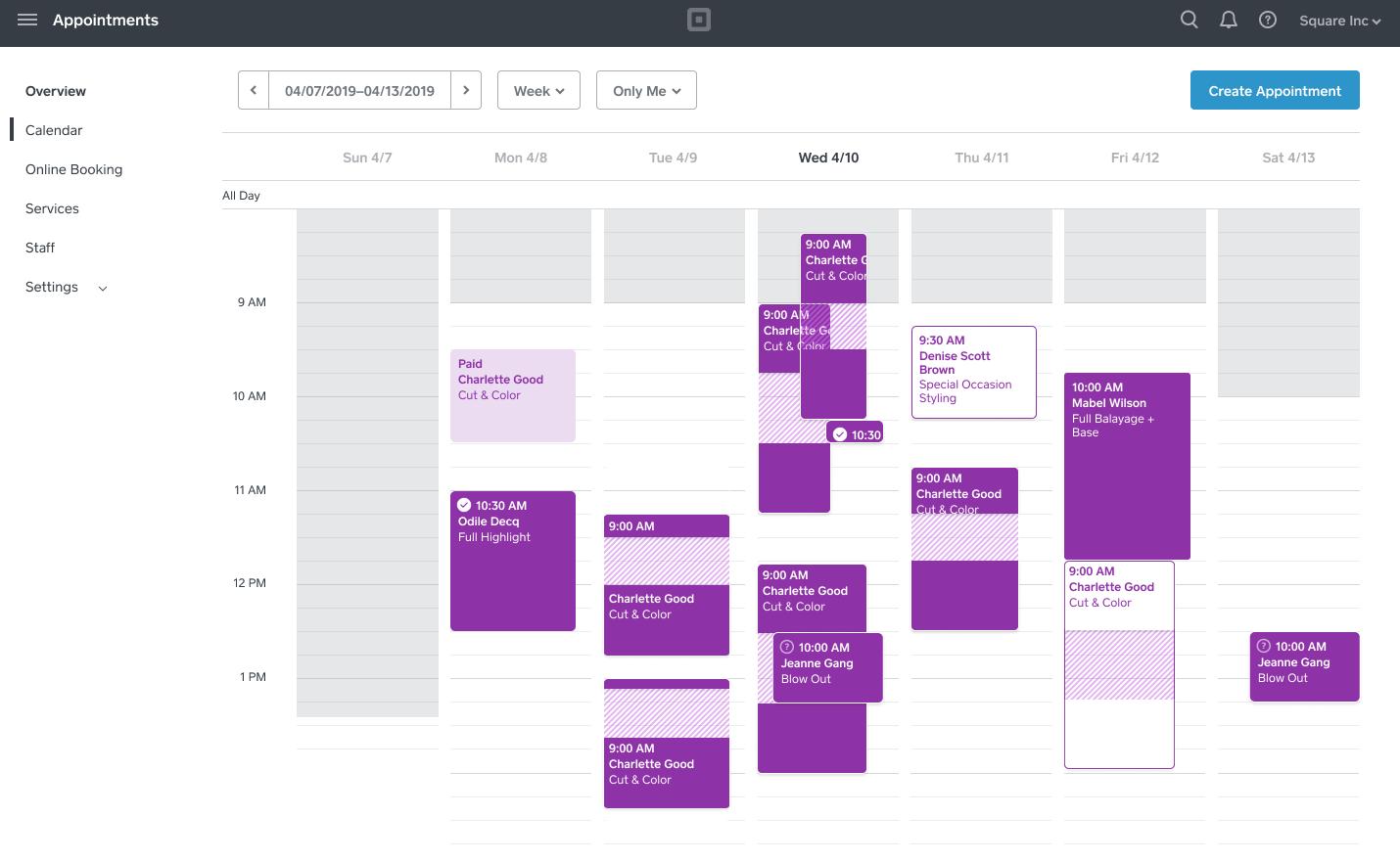 calendrier des temps de traitement