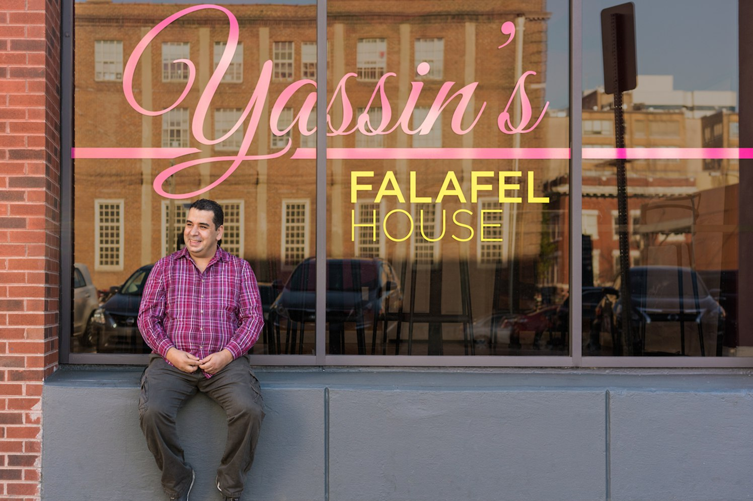 Yassin Terou outside of his business
