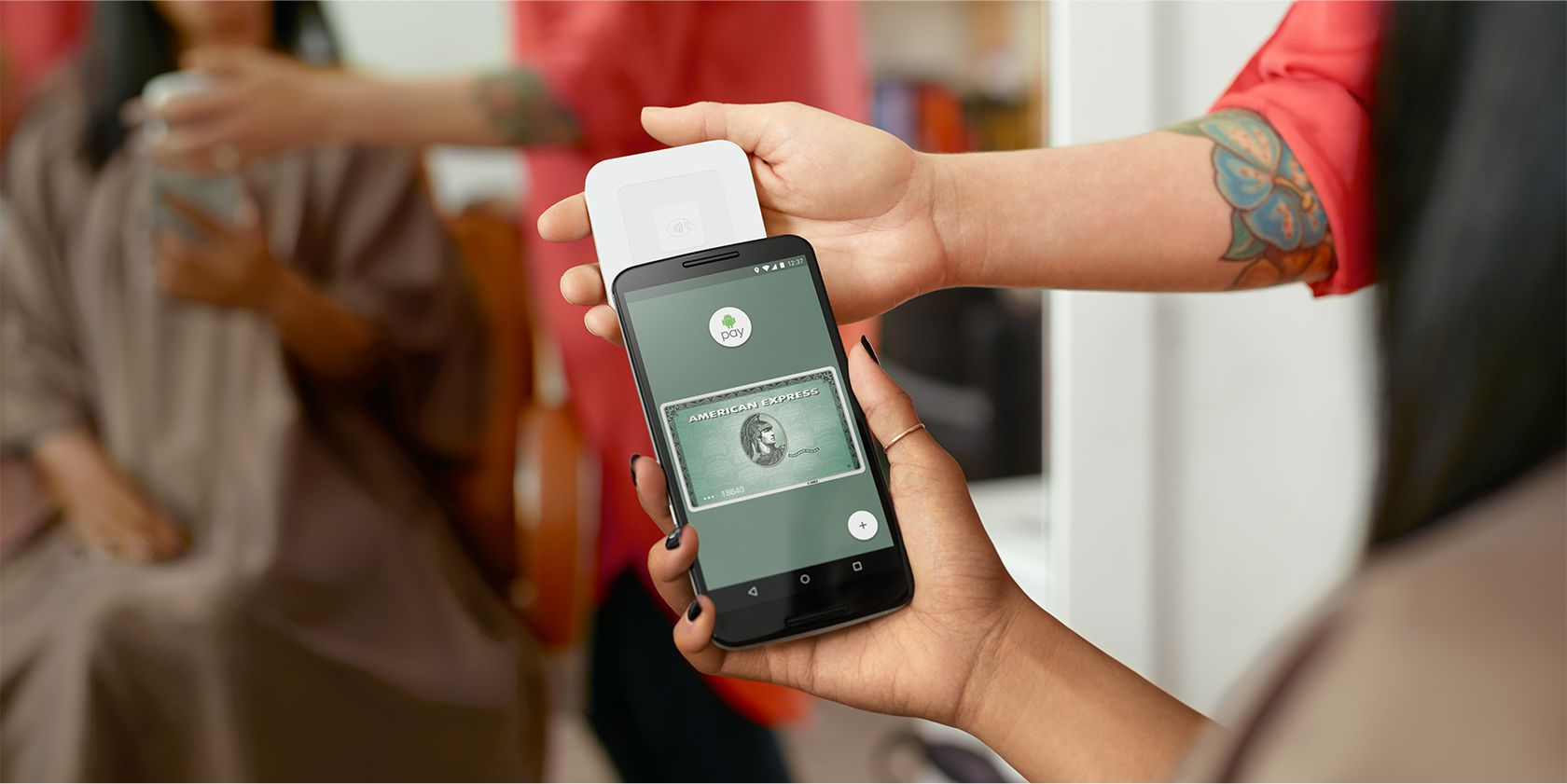 Android Pay (pictured) is another type of mobile NFC payment
