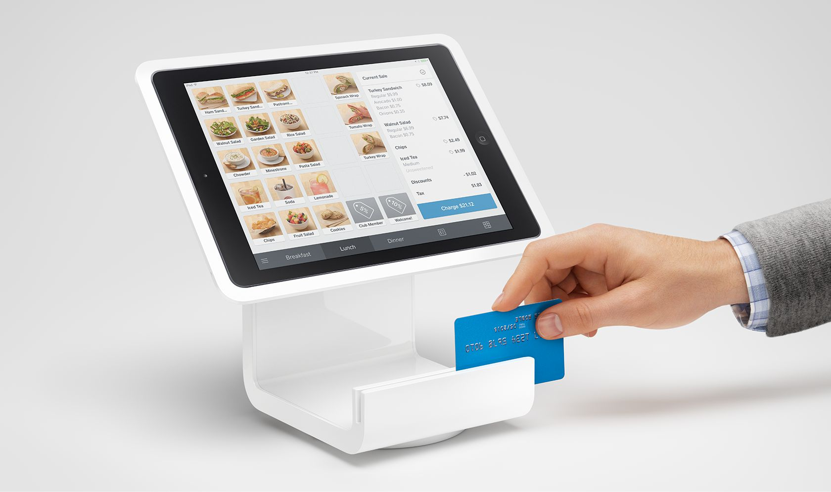 Square Point of Sale and Stand