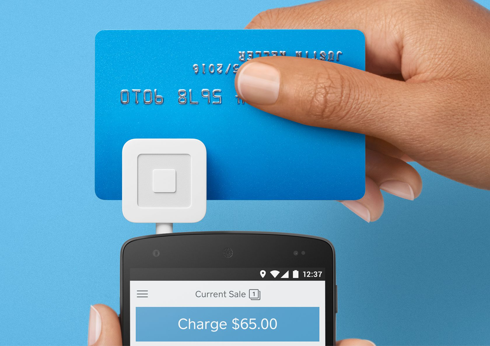 Credit card dip with Square