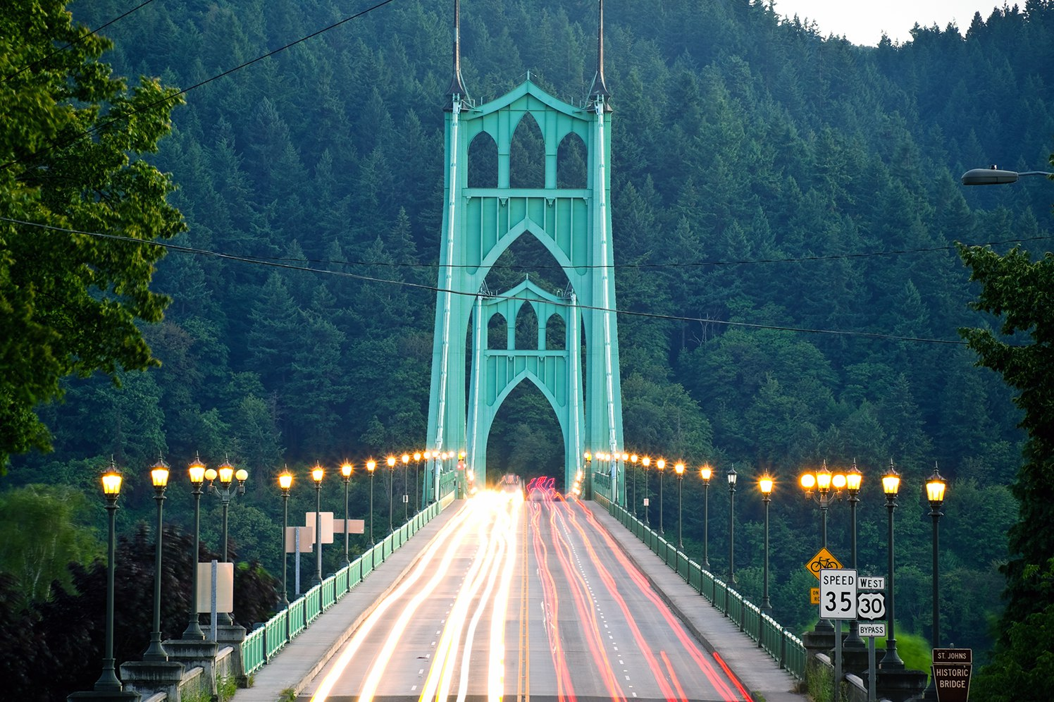 st johns bridge in Portland