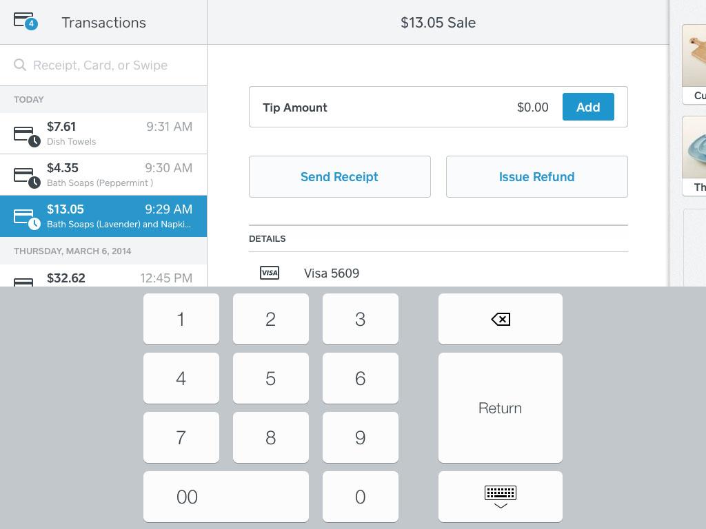 Sélectionnez le montant du pourboire que vous aimeriez appliquer au paiement.