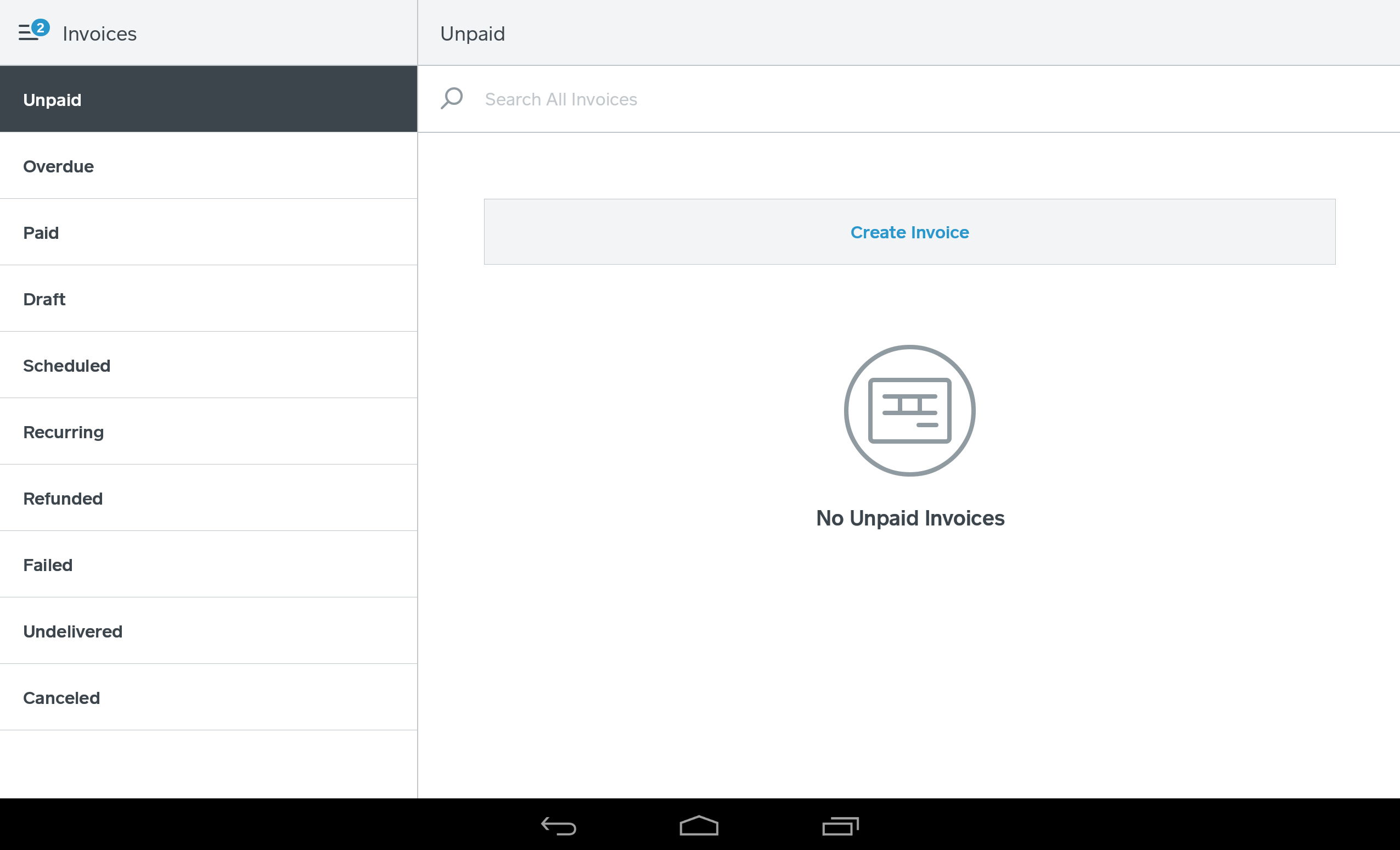 Invoices On Your Square Point Of Sale App Square Support Centre AU - Create paid invoice