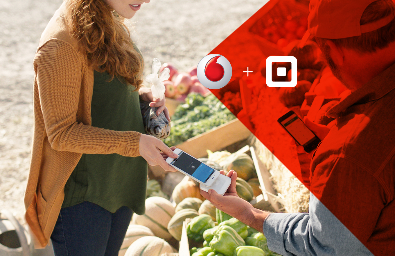 Square teaming up with Vodafone