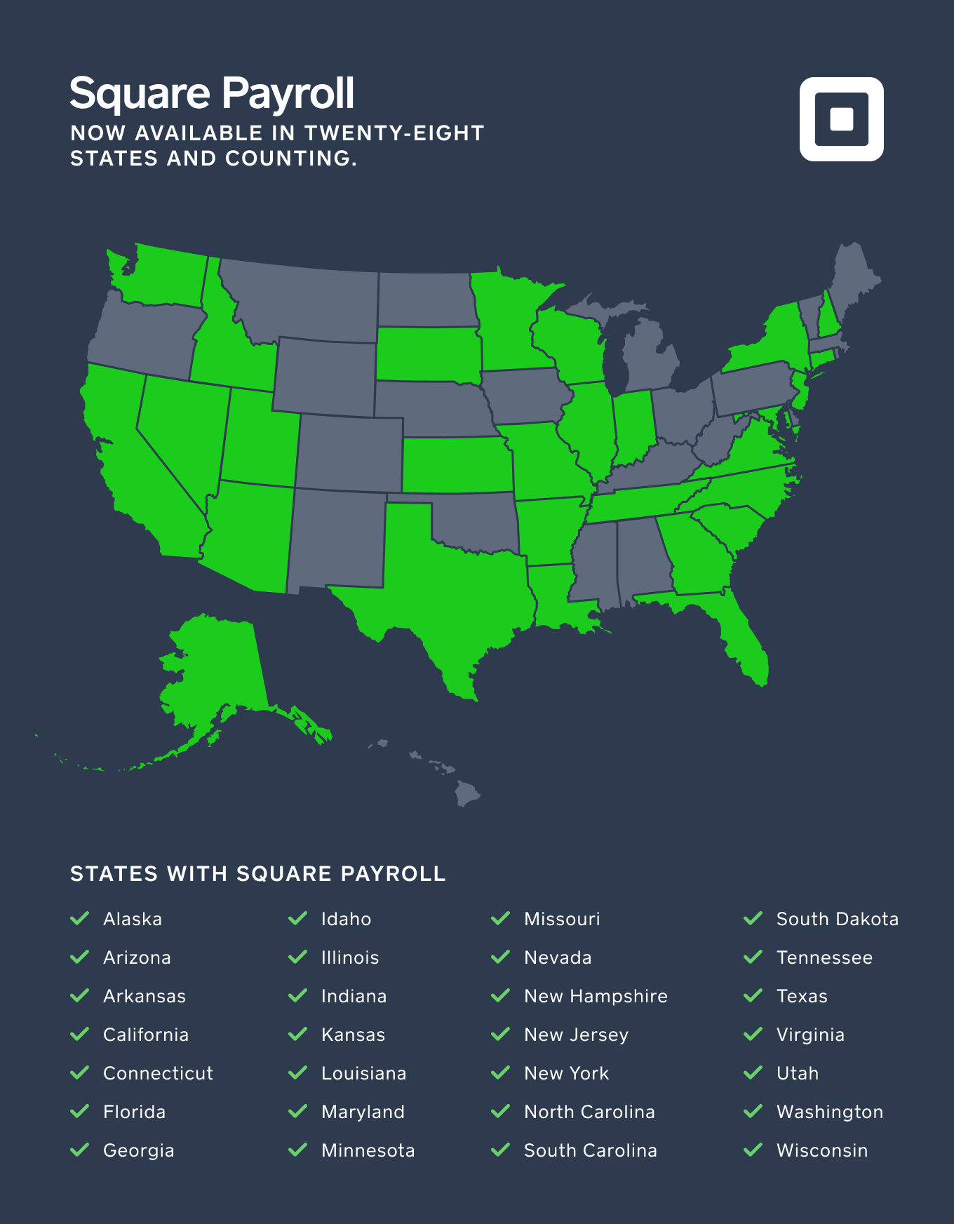 map of square payroll states