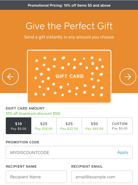 Create Egift Card Promotions Square Support Center Us