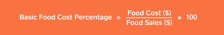 basic food cost formula