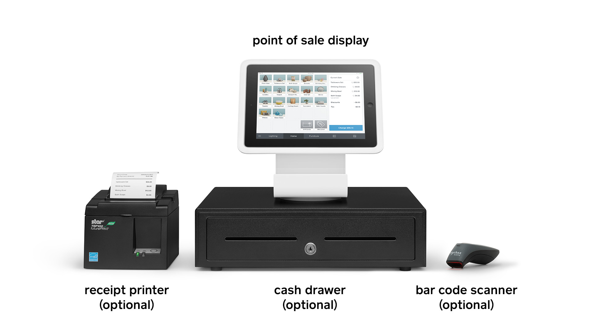 Different pieces of POS hardware that can affect costs
