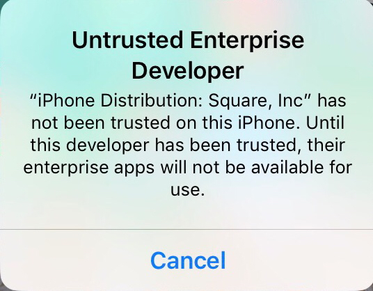 When downloading the beta app, you may see an Untrusted Developer warning.