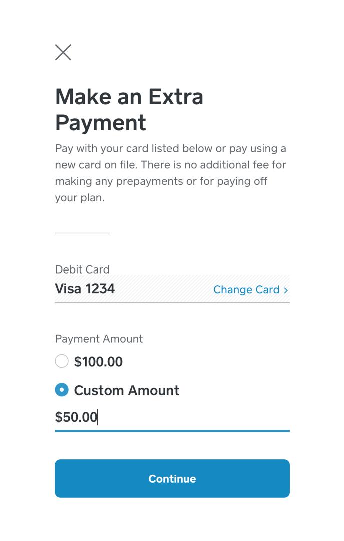 Make an Extra Payment