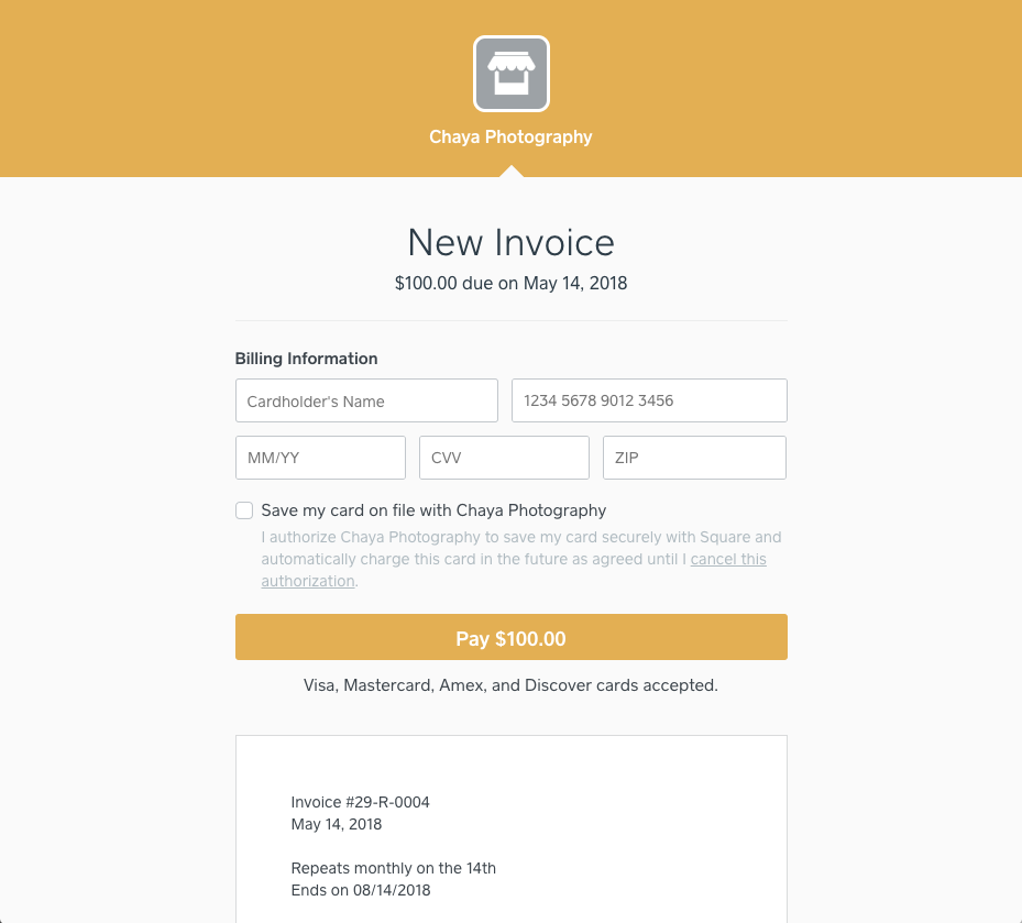 Pay Invoices With Square Square Support Center US - Submitting invoices for payment