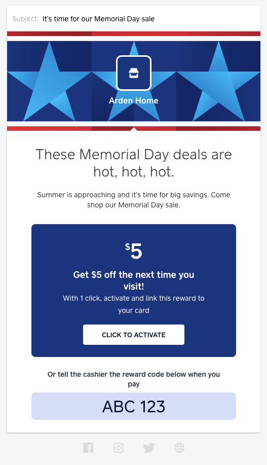 memorial day marketing template