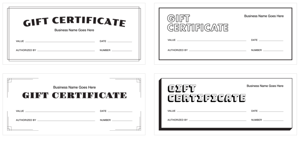 Create A Gift Certificate With Squares Free Templates