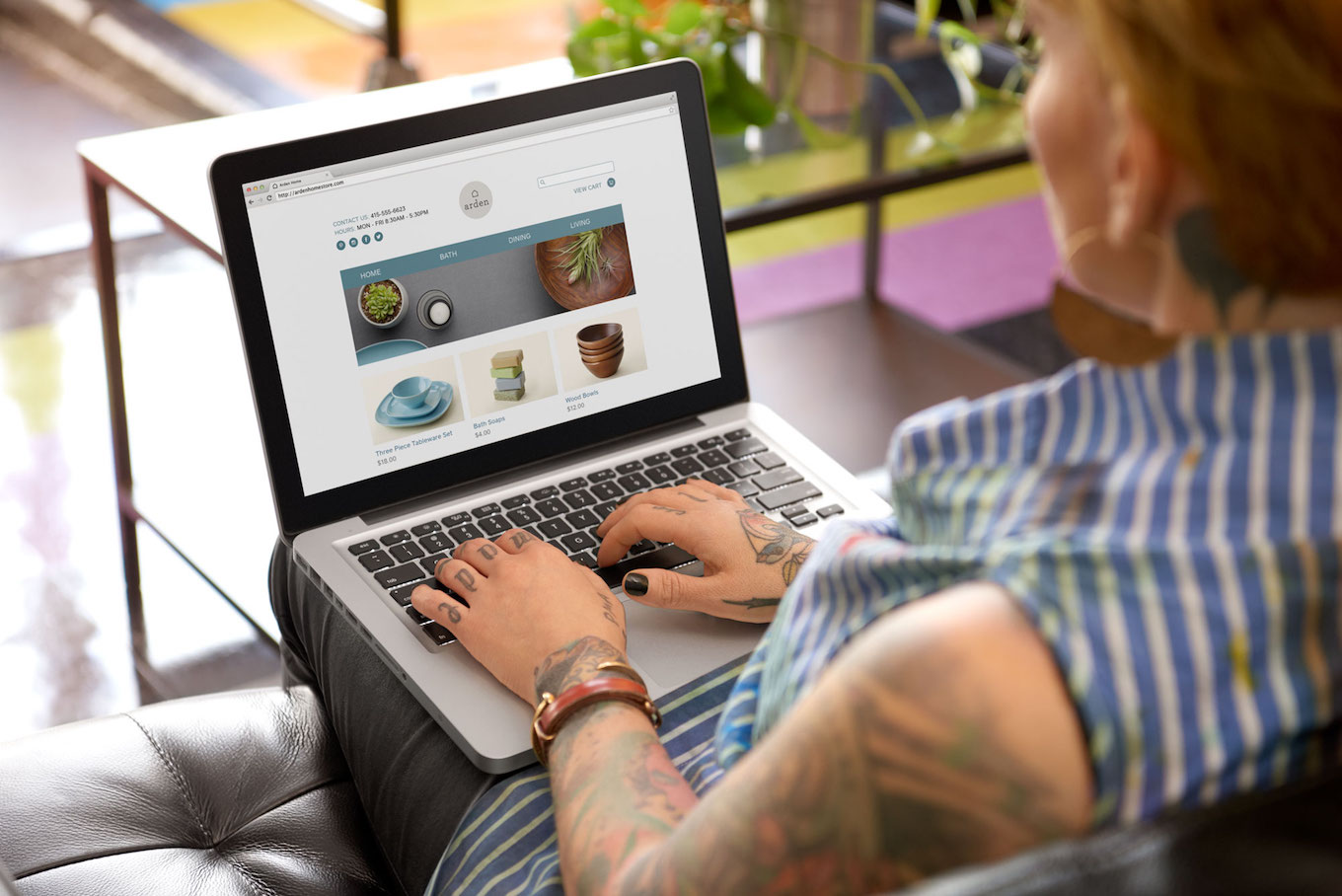 woman working on ecommerce site