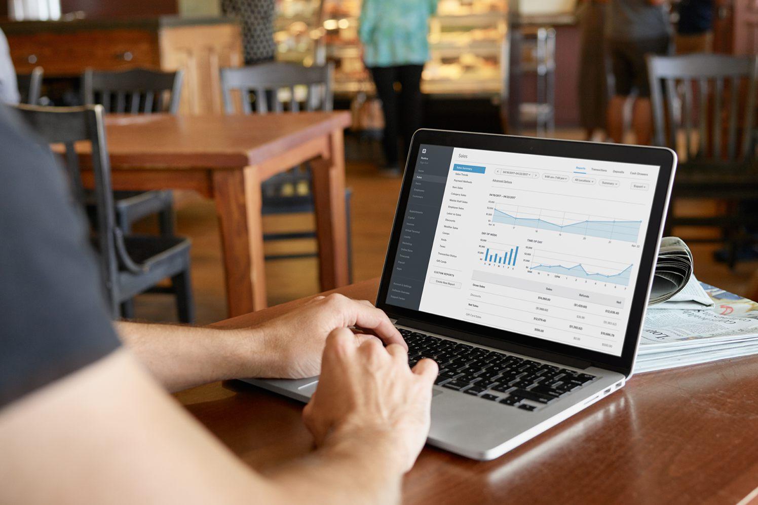 payroll software on an laptop