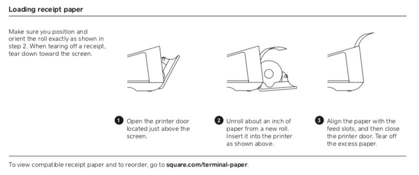 Cargar papel de recibo