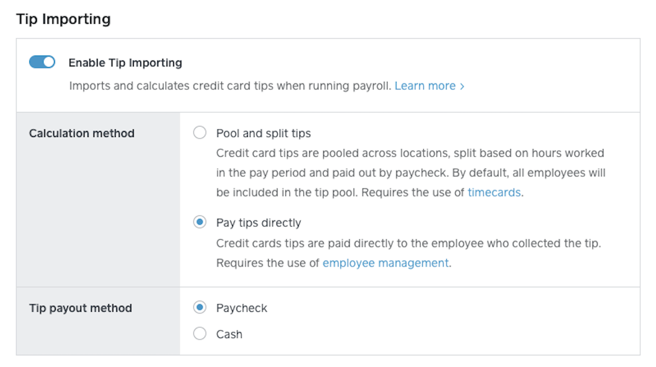 square payroll tips