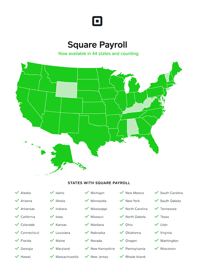 Square Payroll Available States