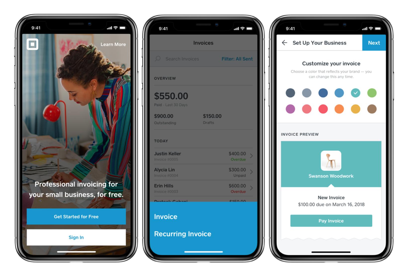 square invoices app screenshot