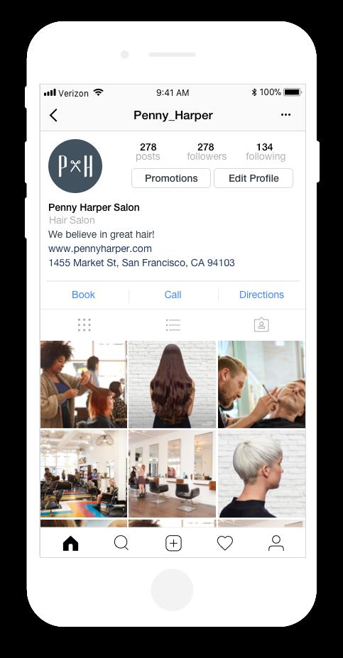 instagram appointments integration screenshot