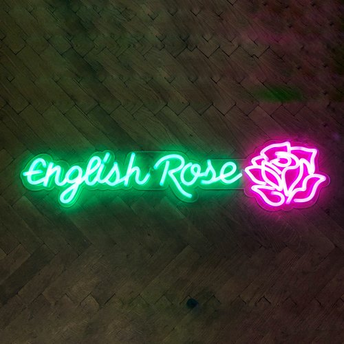 English Rose neon sign